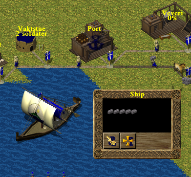 A ship sailing from a port transporting stones